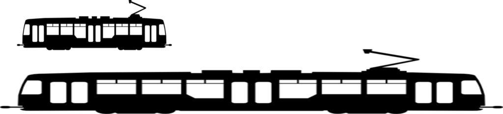 Größenvergleich RTW vs. Strassenbahn
